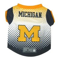 Michigan Wolverines NCAA Licensed Dog Pet Performance Tee Sizes XS-XL