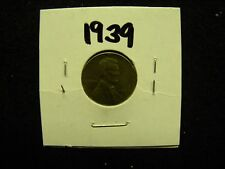1939 Lincoln Head Wheat Penny / One Cent Coin  (Not Professionally Graded)