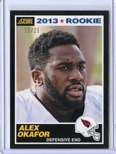 2013 SCORE #336 ALEX OKAFOR ROOKIE CARD RC SP 5/25 - ARIZONA CARDINALS