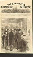 7/5/1873 #01-0010 ANTIQUE PRINT (PERSIA) - THE SHAH AT MANCHESTER