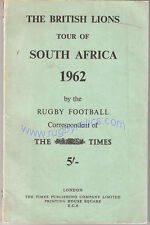 """THE BRITISH LIONS TOUR OF SOUTH AFRICA 1962"" BOOK by TIMES RUGBY CORRESPONDENT"