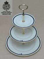"""Royal Worcester """"Signature"""" THREE TIER CAKE STAND"""