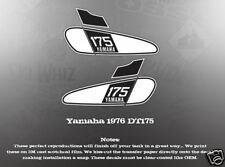 YAMAHA 1976 DT175 FUEL GAS TANK DECAL GRAPHIC LIKE NOS
