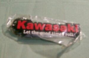 """KAWASAKI """" LET THE GOOD TIMES ROLL"""" RUBBER KEY CHAIN-NOS-SEALED PACKAGE"""