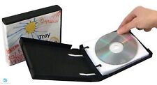 25 CD DVD Unikeep Binder holds 10 Discs Black with White Wallet / Sleeve NEW HQ