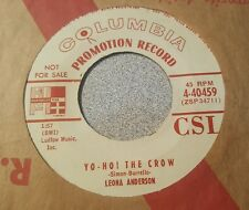 LEONA ANDERSON- Limburger lLover / Yo Ho The Crow  ~ Promo ~ (VG+)