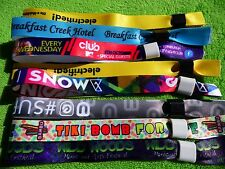 300 Personalised Fabric Wristbands,Printed with Your Logo,Image or Text,Selfgrip