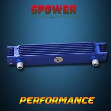 Universal 7 Row AN10 Engine Transmission Aluminum Oil Cooler Mocal Style Blue