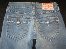True Religion Jeans Mens Billy w Flap Pockets Relaxed Boot Distressed 31 x 31