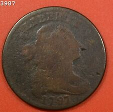 """1797 """"S-136"""" Draped Bust Large Cent *Free S/H After 1st Item*"""