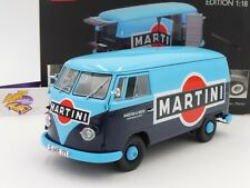"Schuco 00285 # Volkswagen VW T1 Transporter Bj. 59-63 blau-blau "" MARTINI "" 1:18"