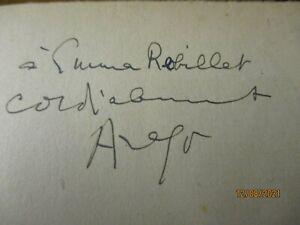 ARAGON LOUIS Autographe Signé sur livre les communistes 1950