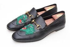 GUCCI 'Brixton' Horsebit Embroided Panther Animal Black Loafer Sz 11.5-12 / 11 G