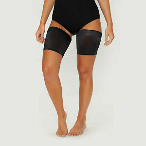 Anti Chafing Black Non Slip Elastic Thigh Bands Inner Leg Comfort Running Sports