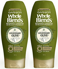 Garnier Whole Blends Replenishing Cond Lgndry Olv, Dry Hair, 22 fl oz.( 2 Pack)
