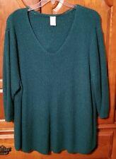 Green Shaker Sweater Size 4X 26/28