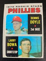 1970 Larry Bowa Rookie Stars RC # 539 Philadelphia Phillies Topps Baseball Card