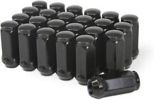 24 Black Bulge Acorn Lug Nuts 2