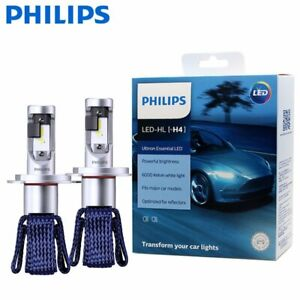 Philips H4 LED Ultinon Essential Head Light Globe Pair 12v 6000K 5 Year Lifespan