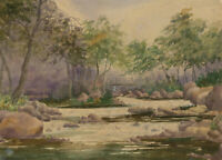 Mid 20th Century Watercolour - Watersmeet, East Lynn