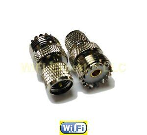 RF ADAPTER MINI UHF MALE TO UHF FEMALE PL259 KENWOOD ANTENNA CABLE TO MOTOROLA