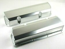Ford 351C Tall Fabricated Aluminum Valve Cover Pair Clear Anodized BPE-2335CA