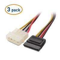 Cable Matters® (3 Pack) 4 Pin Molex to SATA Power Cable Adapter - 6 Inches