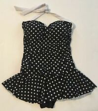 5832656264ca7 Chaps One Piece Bathing Swim Suit Women's 8 Halter Retro Rockabilly Polka  Dot