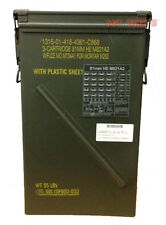 81mm Ammo Can M821A2 Tall Military Metal Can Genuine USGI EXCELLENT Condition