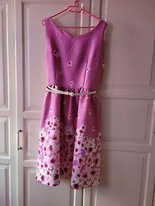 Rosa Kleid von Lindy Bop mit Kirschblüten Größe 40