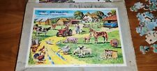 Two Victory Wooden Jigsaw Vintage puzzle the Farm and Westminster Bridge