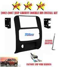 KIT+AMP HARNESS+ANTENNA RADIO STEREO CAR INSTALLATION DASH DOUBLE DIN GPS BLACK