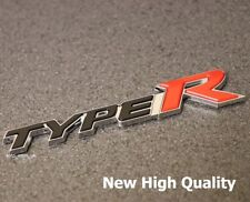 New Type R Badge Emblem Decal Rear Boot Tailgate Trunk Logo For Honda Civic j25r