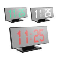 LED Grand écran réveil Numérique Montre électronique muet horloge lumineuse