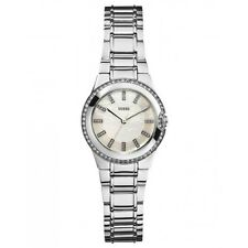 Guess Women's W11178L1 Classical Diamond Silvertone Watch With 3 Years Warranty