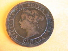 1876-H Canada One Cent Queen Victoria GOOD DETAIL