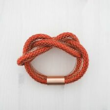 HOF115: COS Armband armreif kupfer rost / Knot detail bracelet rust copper