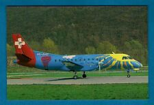 Swiss Aircraft Postcard ~ Crossair HB-AHD: Saab 340A - Niccolini of Italy