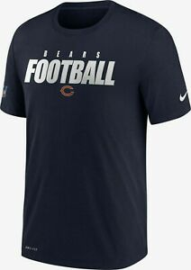 Chicago Bears Mens Nike Dri-Fit Cotton Sideline T-Shirt - XL - NWT