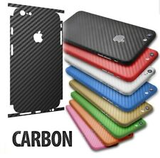 3D Textured Carbon Fibre Skin Vinyl Wrap Sticker Decal Case Cover For All iPhone