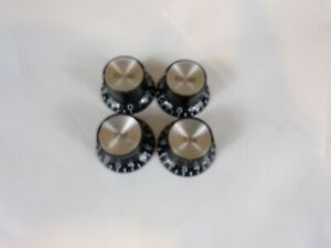 Gibson/Epiphone Black Reflector Knobs LEFT HAND