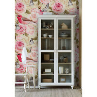 Floral birds Removable wallpaper pink and green wall mural traditional