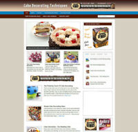 CAKE DECORATING ADVICE WEBSITE WITH BLOG AND AFFILIATE STORE + BANNERS & DOMAIN