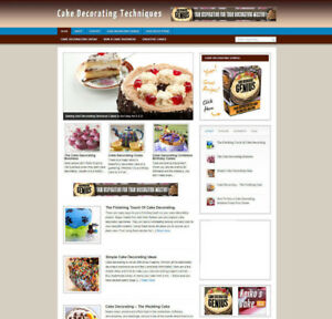CAKE DECORATING ADVICE WEBSITE AFFILIATE STORE + BANNERS & DOMAIN