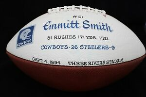Emmitt Smith Game-Used Football Touchdown #51 Dallas Cowboys Autographed