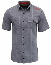 New Mens Henleys M Gingham Check Casual Short Sleeve Shirt Peacoat Blue Size S