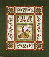 Santa Believe Christmas Quakertown Holiday Applique Quilt Pattern