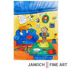 "JANOSCH Farblithografie ""la paloma ohe - lalala"" handsigniert, Auflage 99, 2013!"