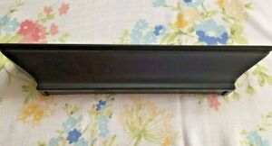 "MODERN STYLE  BLACK WALL SHELF 18"" L X 4"" W"