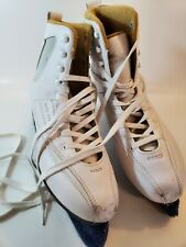 Lake Placid Sts-500 White Figure Ice Skates, Women's Size 9, Blade Cover